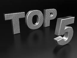I love doing Top 5 Lists