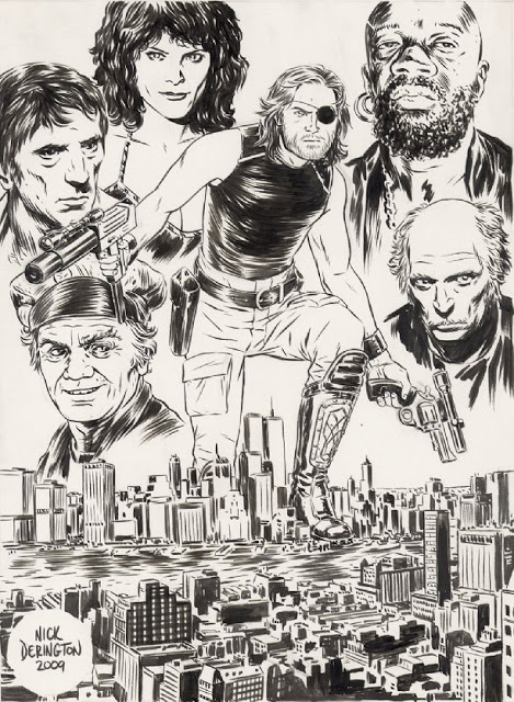 Escape From New York sketch by Nick Derington (Mondo)