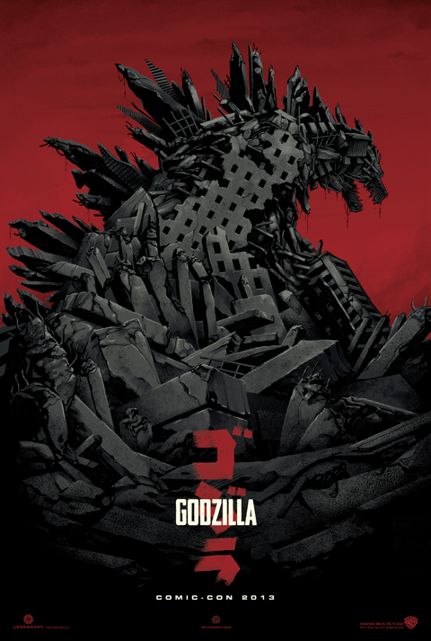 "Teaser Poster for ""Godzilla"" from Legendary Pictures"
