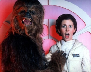 Where Chewbacca's from, boob grabs are considered a sign of peace.