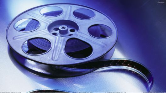 Movie Reel In Blue Light