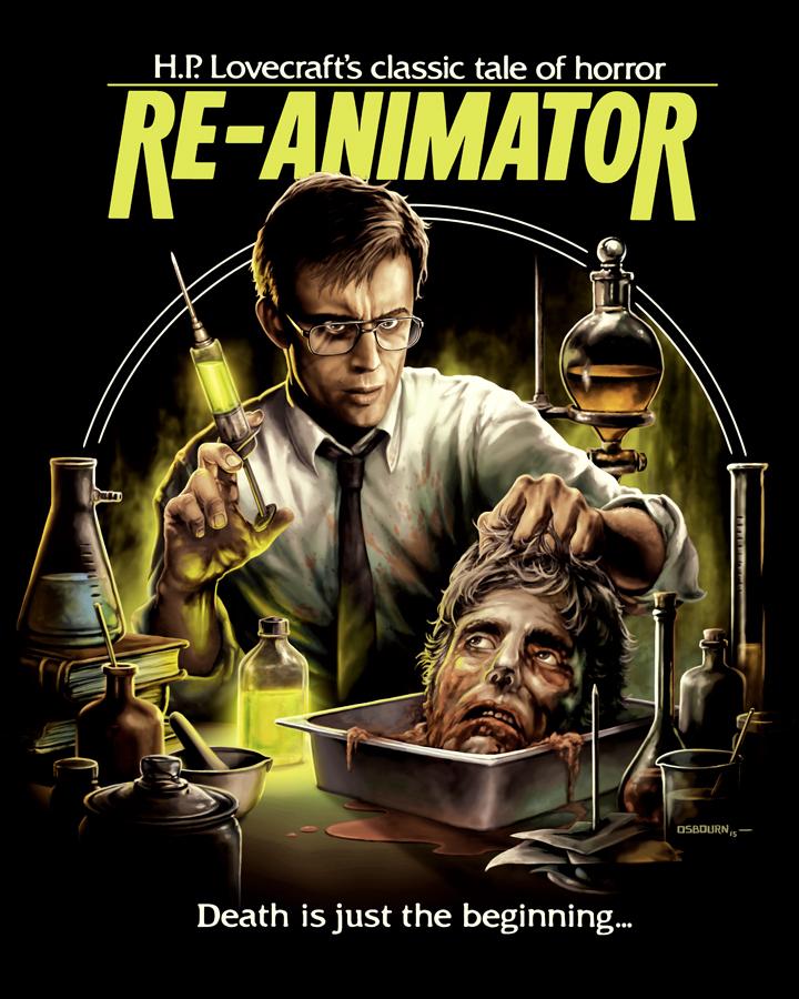 Lovecraft Re-Animator 1985 Movie SHIRT H.P